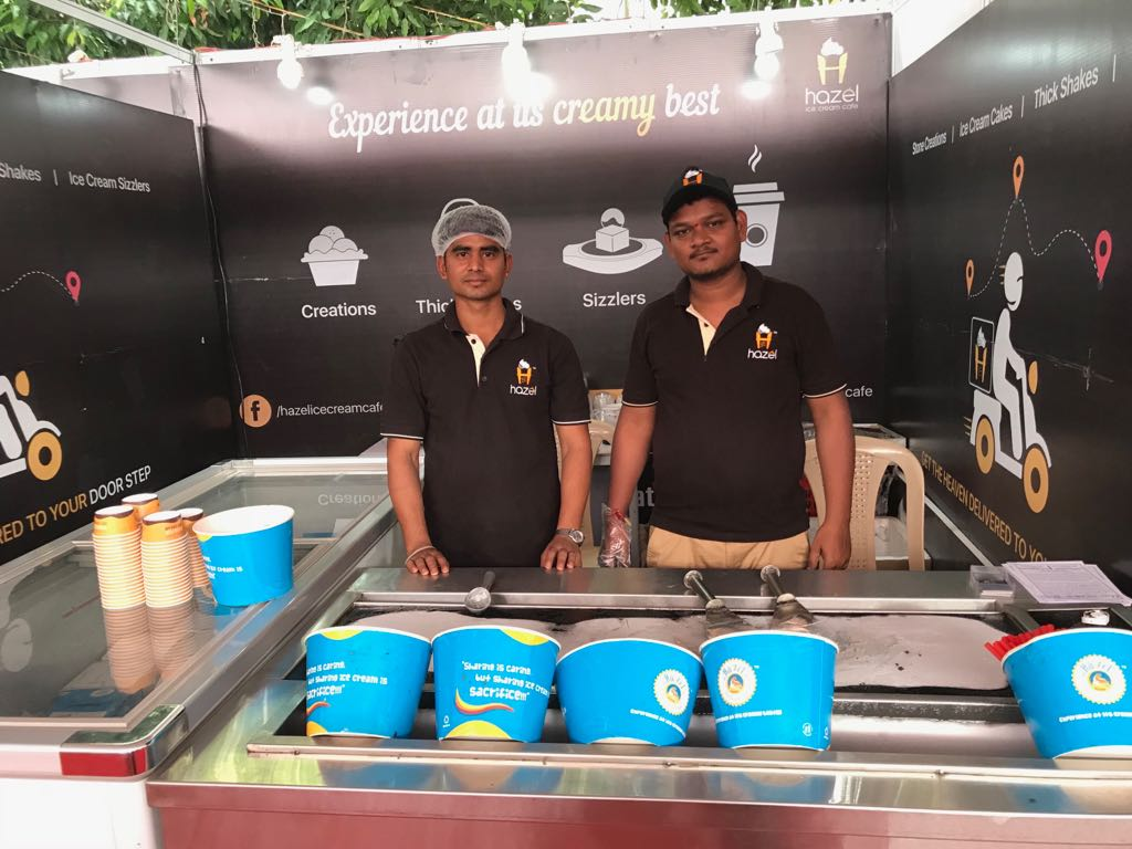 Hazel Ice Cream Cafe exhibition stall at FTAPCCI Food Industry Conclave held at Vijayawada on Jan 4 - 6, 2018 ( (4)